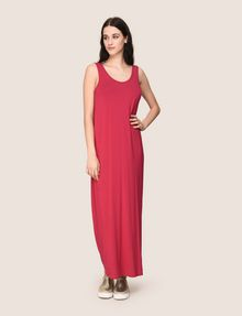 ARMANI EXCHANGE GATHERED PLUNGE-BACK MAXI DRESS Maxi dress Woman d