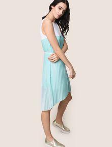 ARMANI EXCHANGE BICOLOR PLEAT TANK DRESS Midi dress Woman a