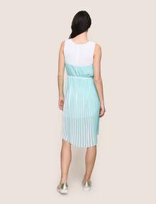 ARMANI EXCHANGE BICOLOR PLEAT TANK DRESS Midi dress Woman e
