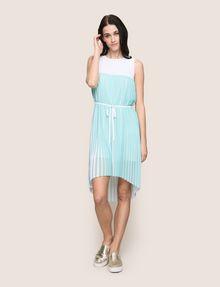 ARMANI EXCHANGE BICOLOR PLEAT TANK DRESS Midi dress Woman f