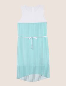 ARMANI EXCHANGE BICOLOR PLEAT TANK DRESS Midi dress Woman r