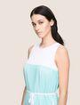ARMANI EXCHANGE BICOLOR PLEAT TANK DRESS Midi dress Woman b