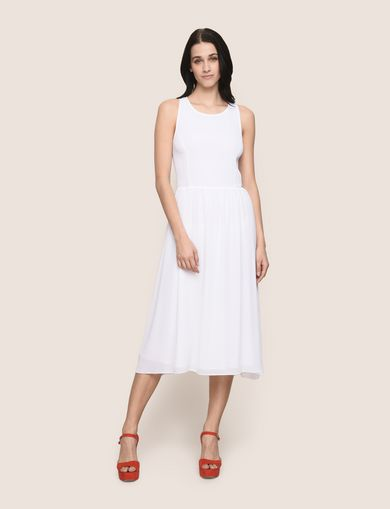 RACERBACK JACQUARD MIDI DRESS
