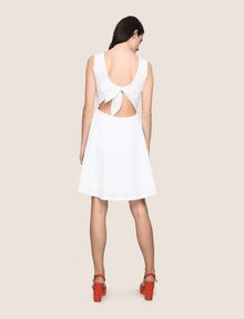 ARMANI EXCHANGE CUTOUT TIE-BACK FIT-AND-FLARE Mini dress Woman e