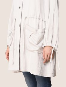 ARMANI EXCHANGE SHIMMER LINEN-BLEND LONGLINE COAT Jacket Woman b