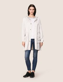 ARMANI EXCHANGE SHIMMER LINEN-BLEND LONGLINE COAT Jacket Woman d