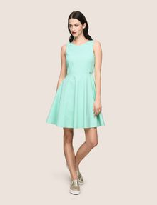 ARMANI EXCHANGE CUTOUT TIE-BACK FIT-AND-FLARE Mini dress Woman d