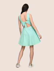 ARMANI EXCHANGE CUTOUT TIE-BACK FIT-AND-FLARE Mini dress Woman e