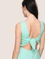 ARMANI EXCHANGE CUTOUT TIE-BACK FIT-AND-FLARE Mini dress Woman b
