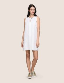 ARMANI EXCHANGE MOD KEYHOLE LINEN-BLEND SHIFT Mini dress Woman d