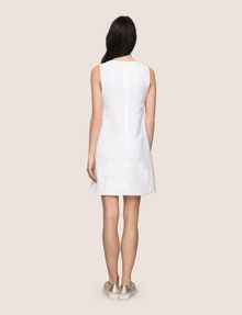 ARMANI EXCHANGE MOD KEYHOLE LINEN-BLEND SHIFT Mini dress Woman e