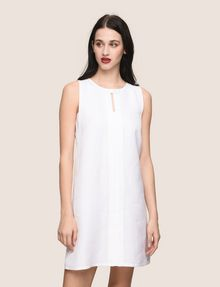 ARMANI EXCHANGE MOD KEYHOLE LINEN-BLEND SHIFT Mini dress Woman f