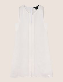 ARMANI EXCHANGE MOD KEYHOLE LINEN-BLEND SHIFT Mini dress Woman r