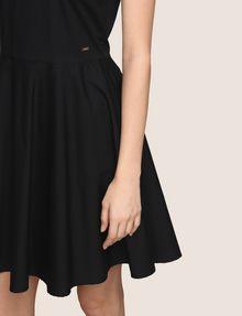 ARMANI EXCHANGE CONTRAST ZIP POPLIN FIT-AND-FLARE Mini dress Woman b