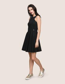 ARMANI EXCHANGE CONTRAST ZIP POPLIN FIT-AND-FLARE Mini dress Woman d