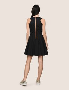 ARMANI EXCHANGE CONTRAST ZIP POPLIN FIT-AND-FLARE Mini dress Woman e