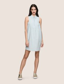 ARMANI EXCHANGE ZIP-FRONT COLLARED BUBBLE DRESS Mini dress [*** pickupInStoreShipping_info ***] d
