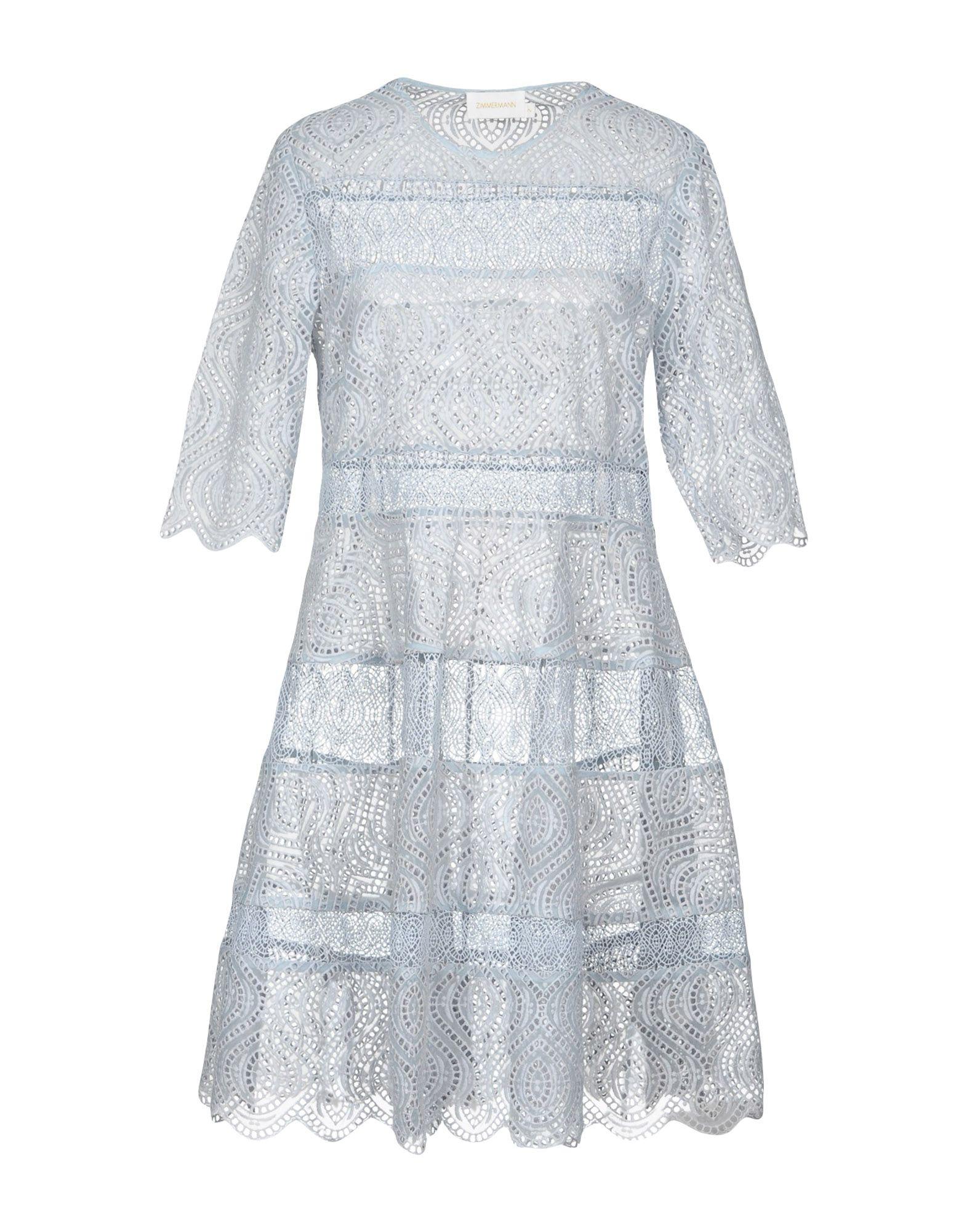 ZIMMERMANN Короткое платье zimmermann юбка длиной 3 4