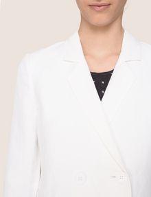ARMANI EXCHANGE DOUBLE-BREASTED LONGLINE LINEN-BLEND BLAZER Blazer Woman b