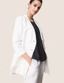 ARMANI EXCHANGE DOUBLE-BREASTED LONGLINE LINEN-BLEND BLAZER Blazer Woman a