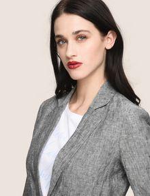 ARMANI EXCHANGE LINEN CHAMBRAY TIE-WAIST BLAZER Blazer Woman b