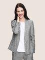 ARMANI EXCHANGE LINEN CHAMBRAY TIE-WAIST BLAZER Blazer Woman a
