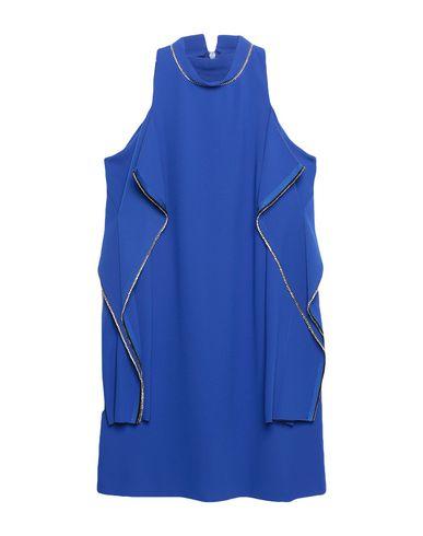 Купить Женское короткое платье  ярко-синего цвета