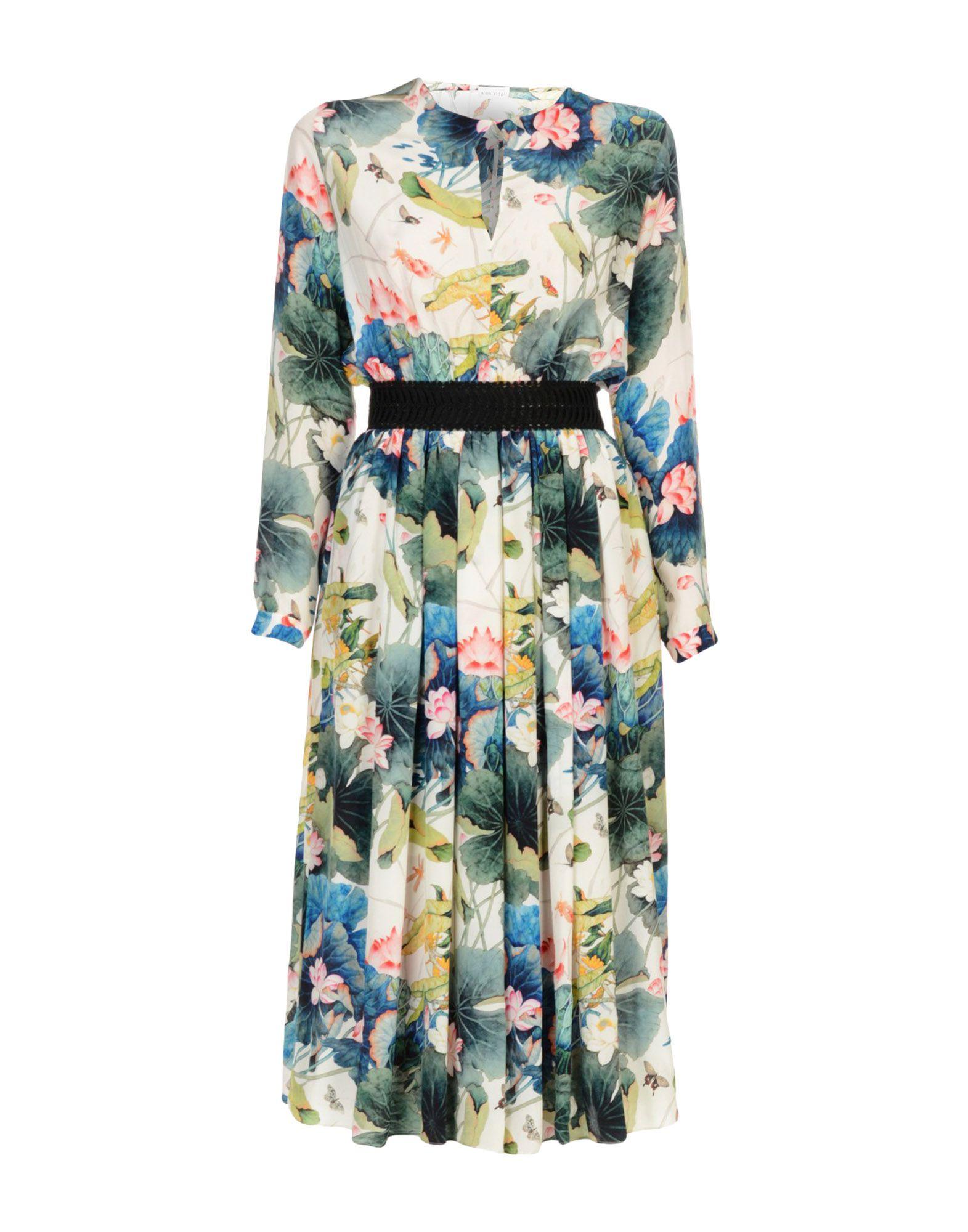 ALEX VIDAL Платье длиной 3/4 платье alex lu alex lu mp002xw0jbke