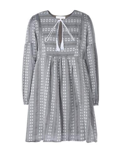 Фото - Женское короткое платье DESIGNERS SOCIETY серого цвета
