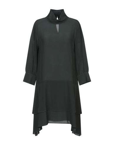Фото - Женское короткое платье TWINSET изумрудно-зеленого цвета