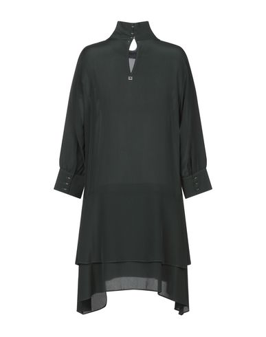 Фото 2 - Женское короткое платье TWINSET изумрудно-зеленого цвета