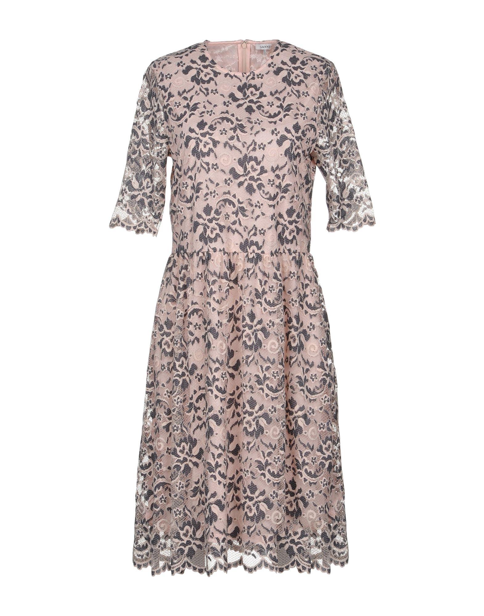 GANNI Платье до колена ganni serra платье женское
