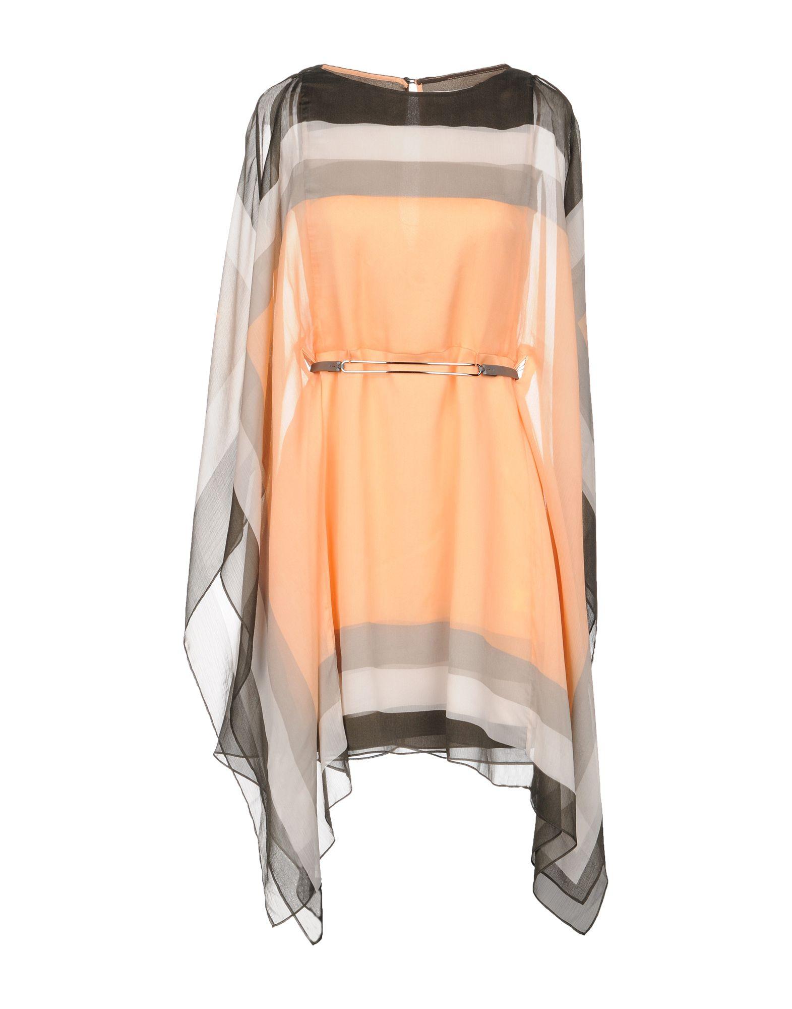 HALSTON HERITAGE Короткое платье lovaru ™летом стиль 2015 шифон рукавов шить цветной печати мини платье моды случайные платье