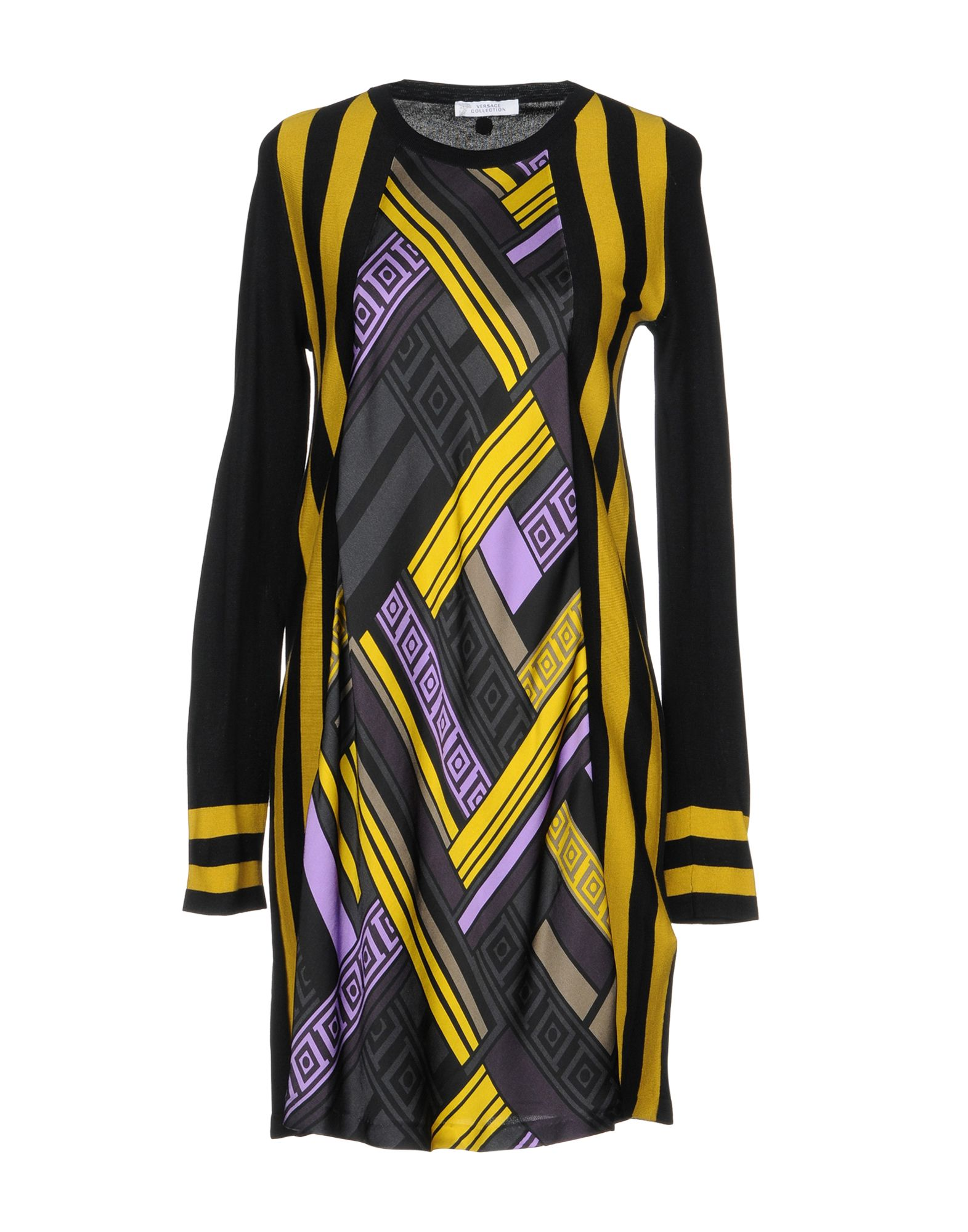 VERSACE COLLECTION Короткое платье versace collection юбка в полоску