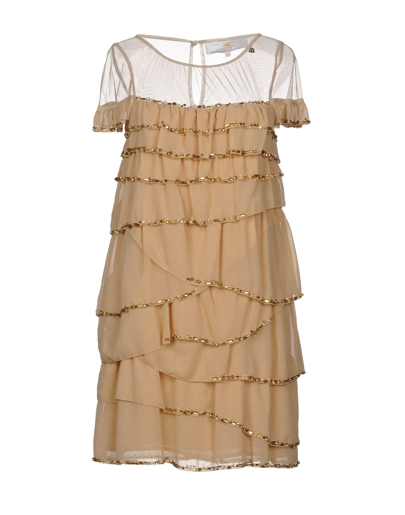 ELISABETTA FRANCHI GOLD Короткое платье цена 2017