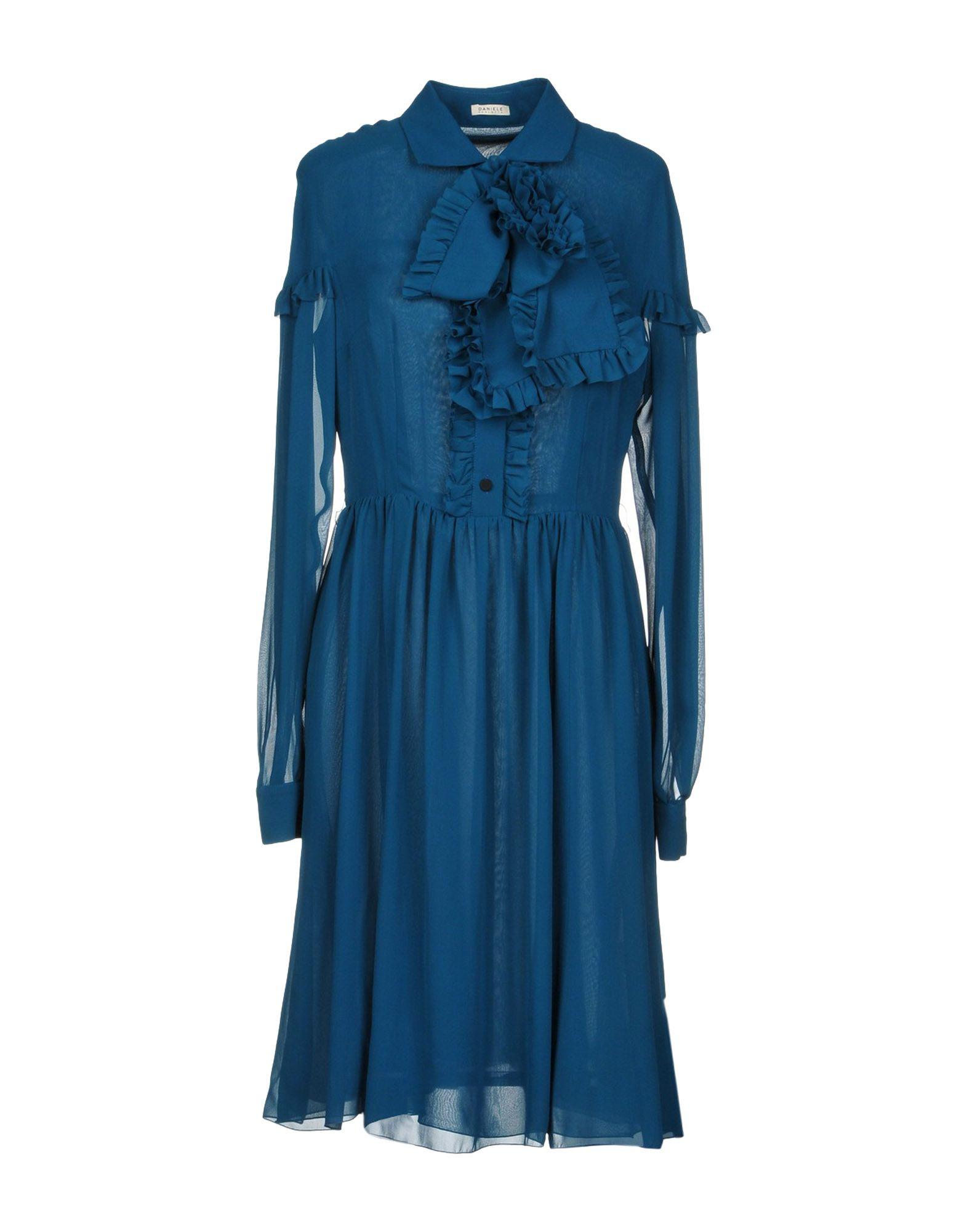 DANIELE CARLOTTA Knee-Length Dress in Deep Jade