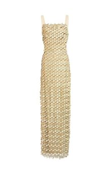 ALBERTA FERRETTI Tremblant embroidered tulle dress Long Dress Woman e