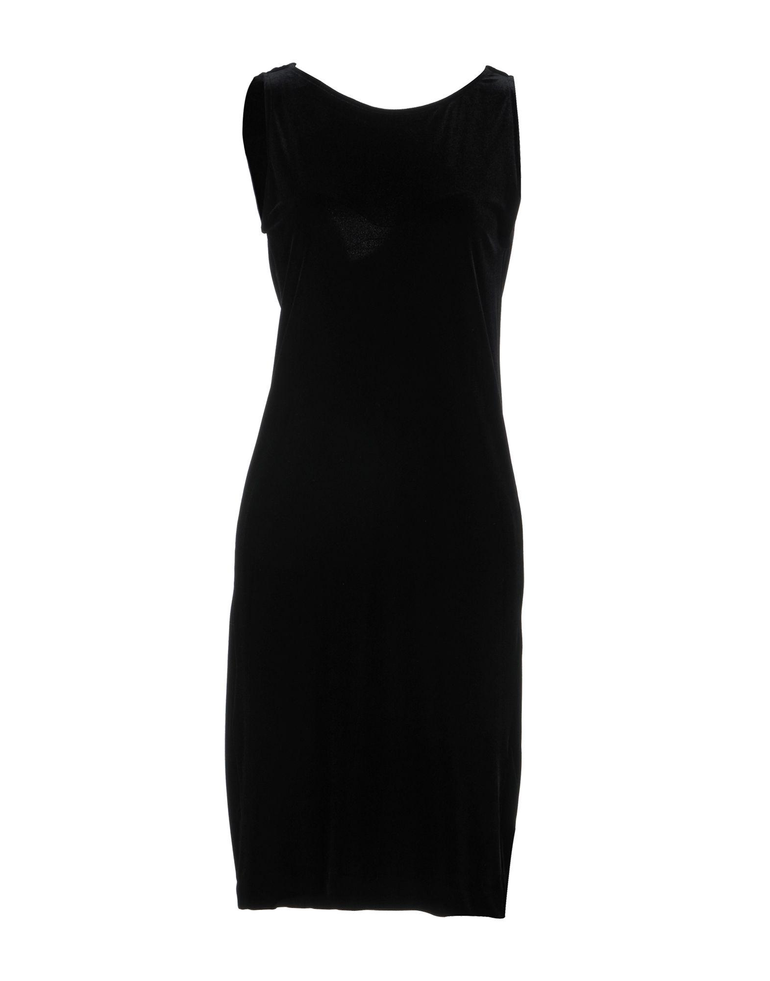 LE COL Knee-Length Dress in Black