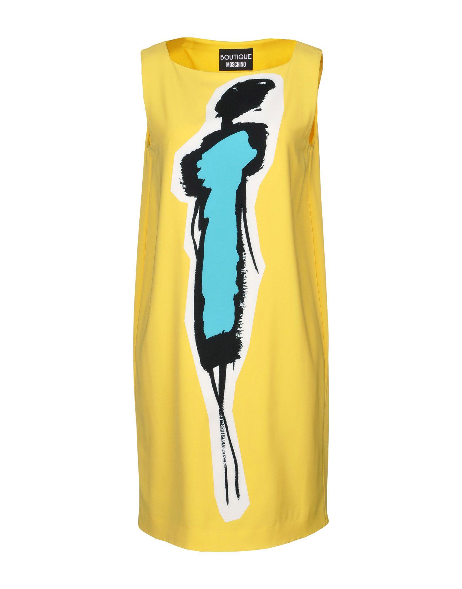 BOUTIQUE MOSCHINO Damen Kurzes Kleid Farbe Gelb Größe 6