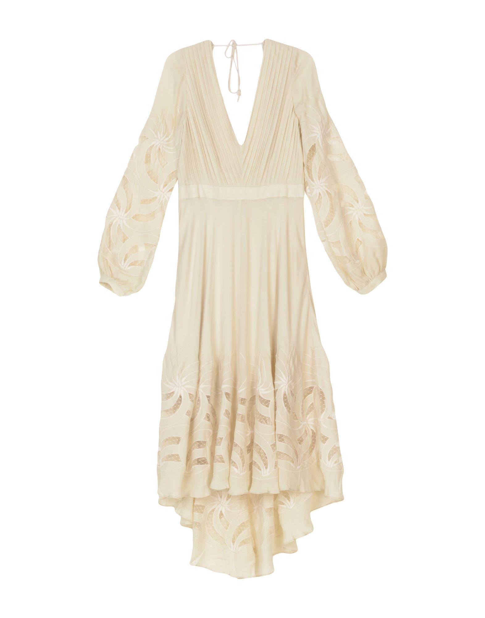 HAUTE HIPPIE Damen Knielanges Kleid Farbe Beige Größe 4