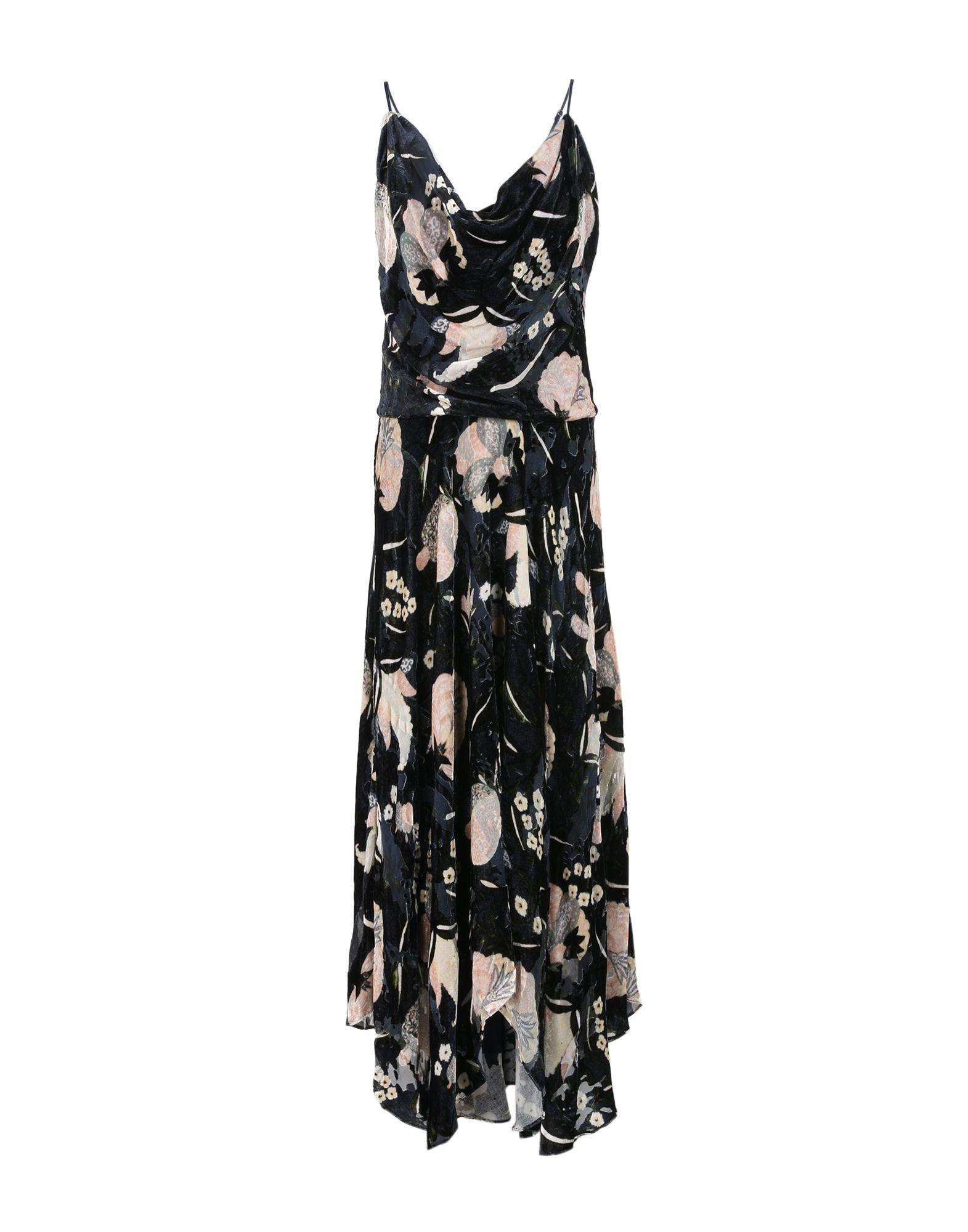HAUTE HIPPIE Damen Langes Kleid Farbe Dunkelblau Größe 7