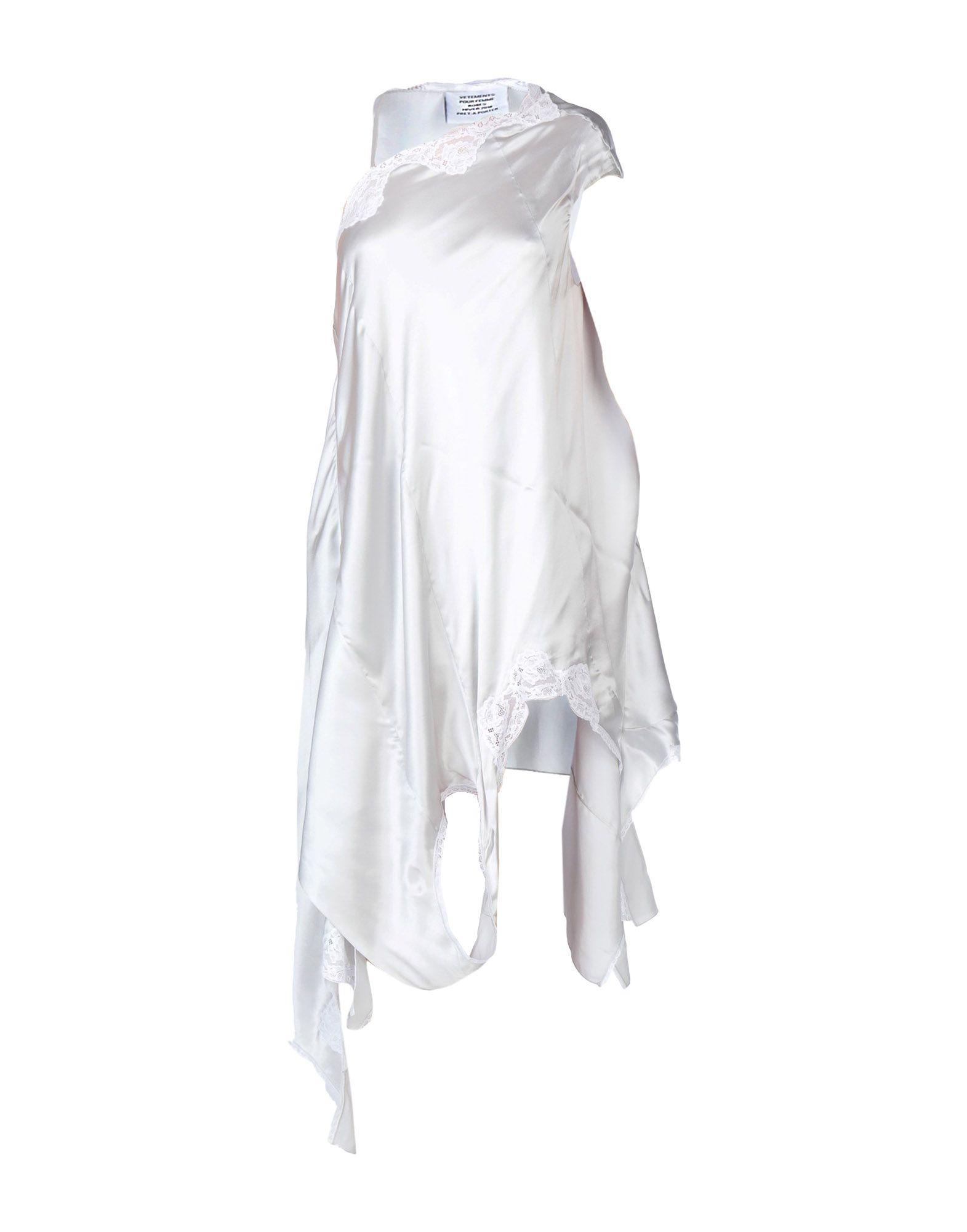 VETEMENTS Короткое платье малого сексуально женщин от летних моды случайных плечо мини платье