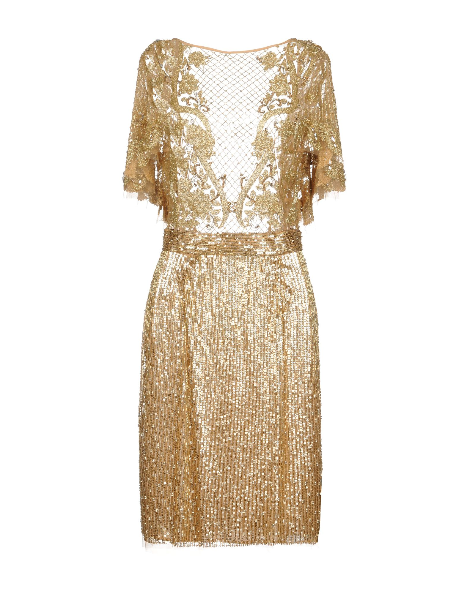 AMEN COUTURE Knee-Length Dress in Gold