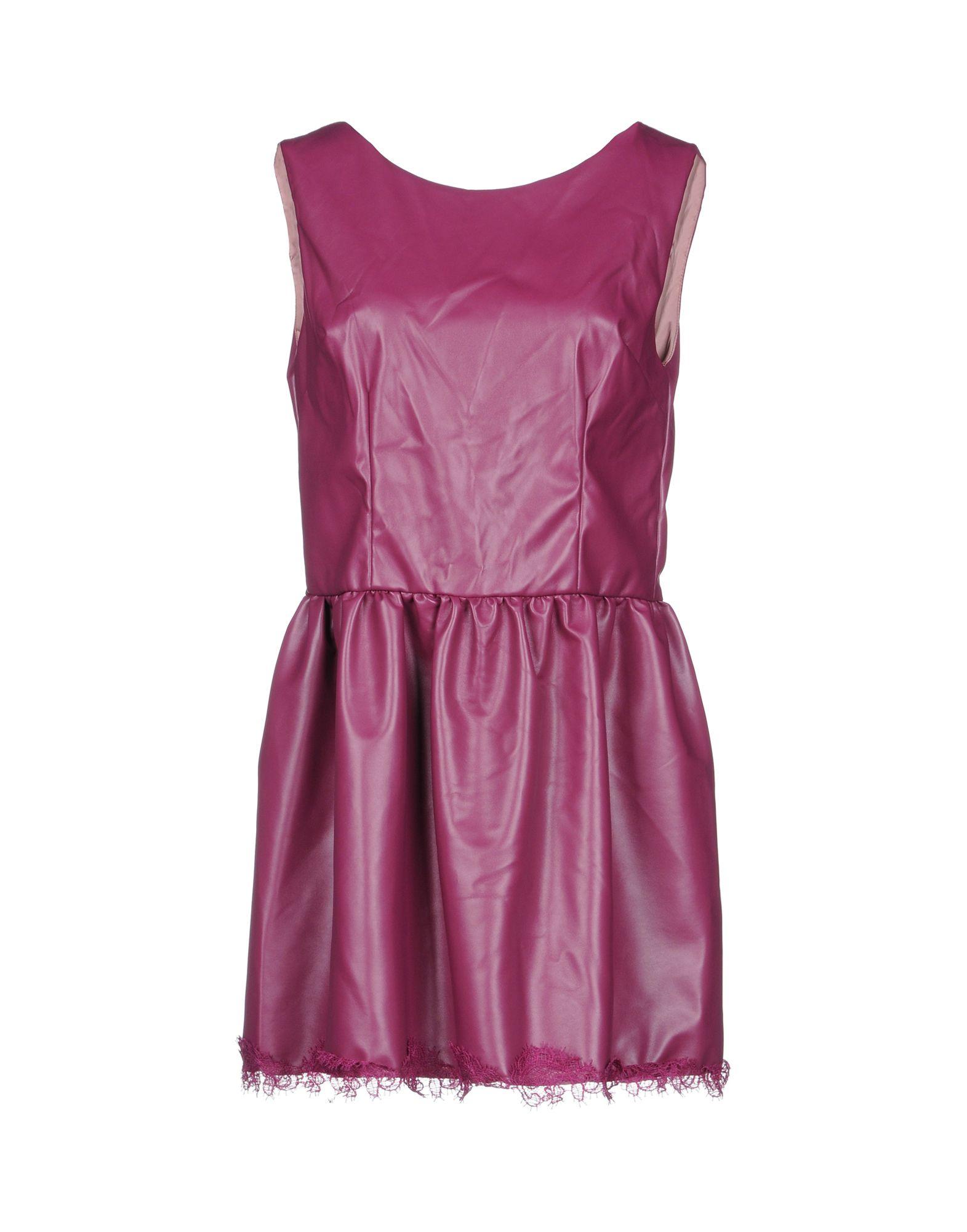 MACRÍ Короткое платье платье без рукавов с кружевной вставкой на спинке