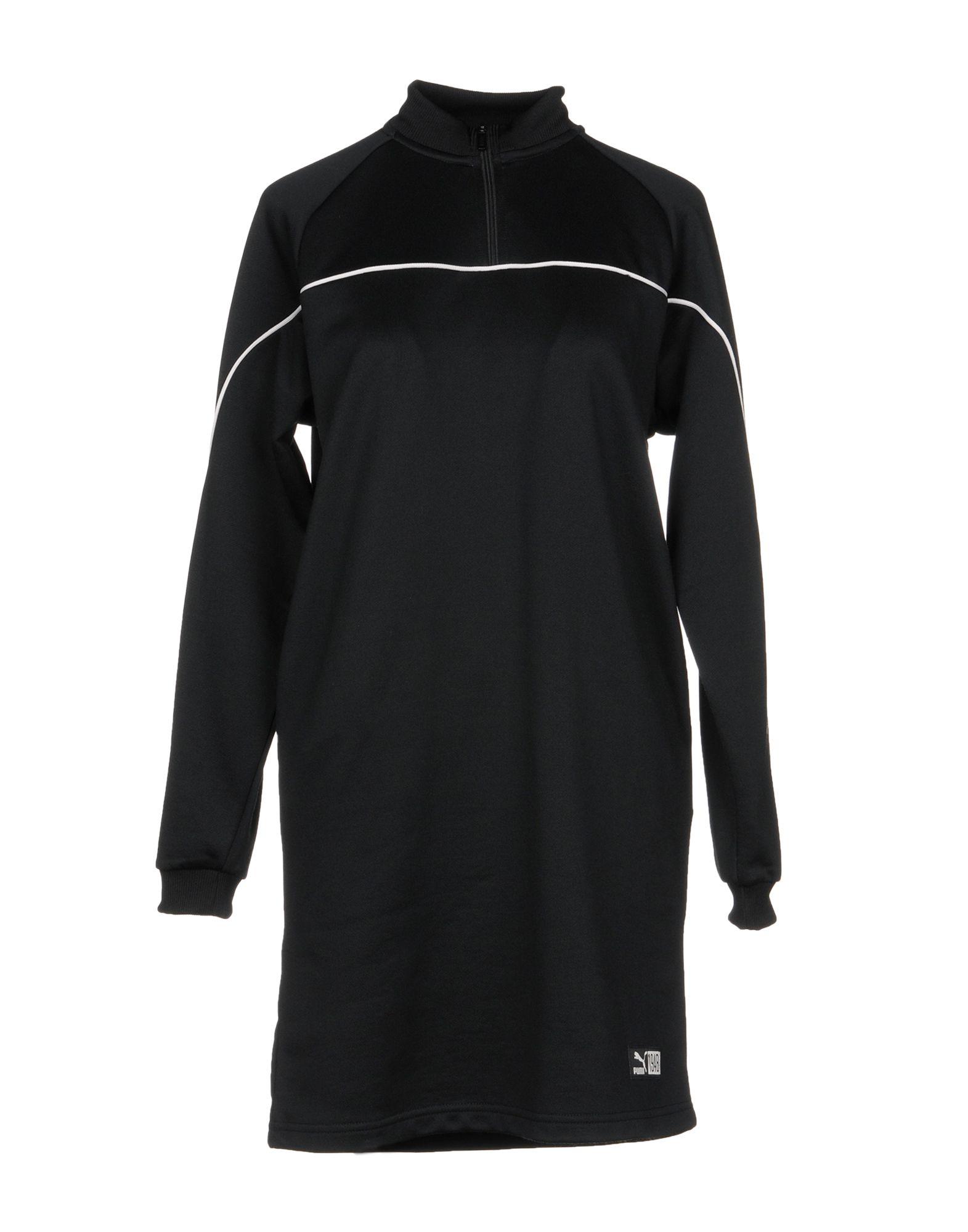 《送料無料》PUMA レディース ミニワンピース&ドレス ブラック XS ポリエステル 58% / コットン 42%