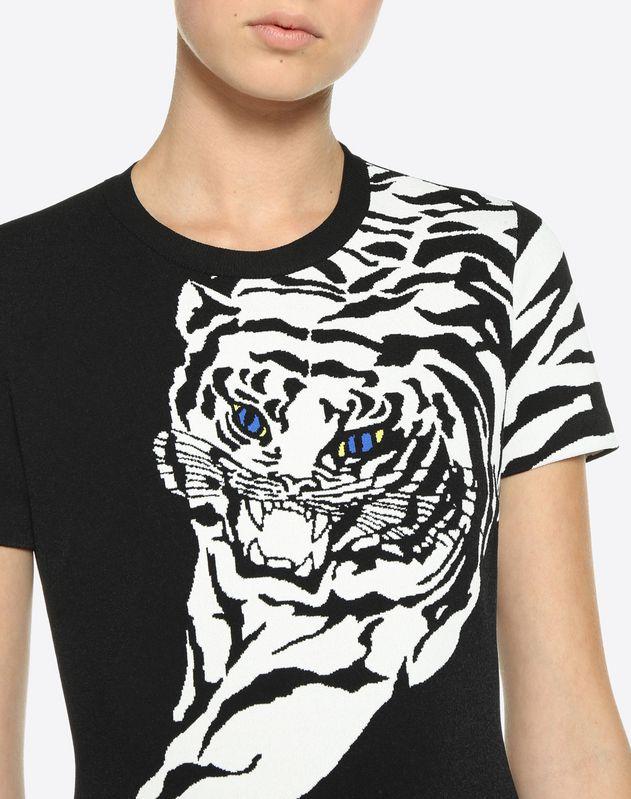 Платье из жаккарда с мотивом Tiger Re-edition