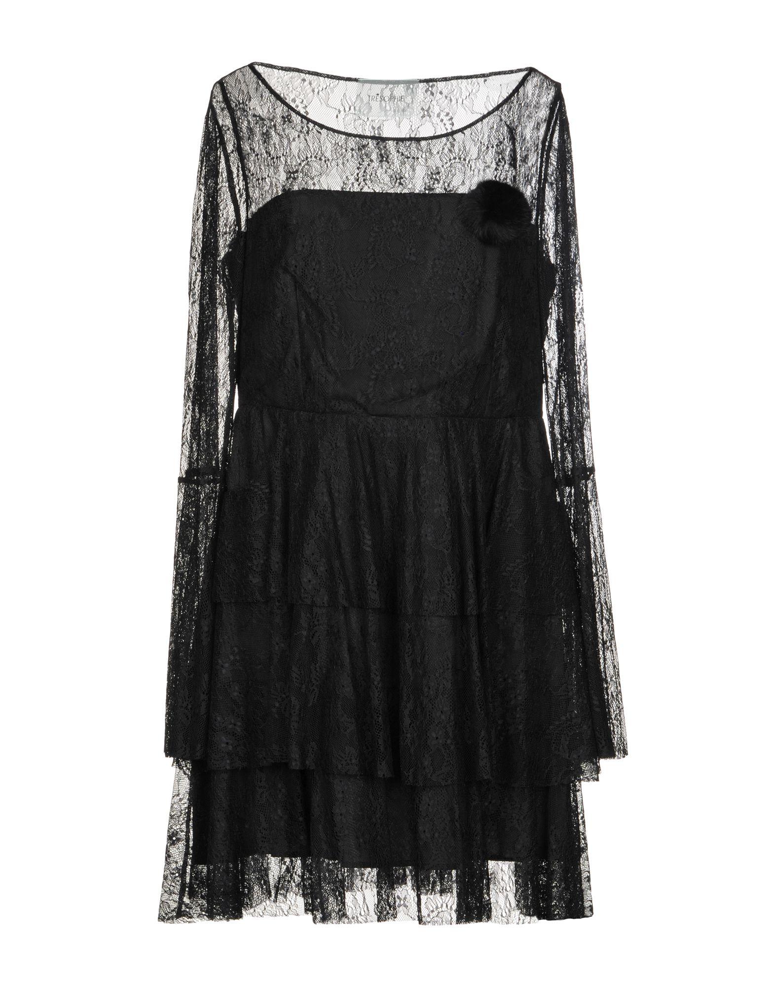 TRESOPHIE Damen Kurzes Kleid Farbe Schwarz Größe 6