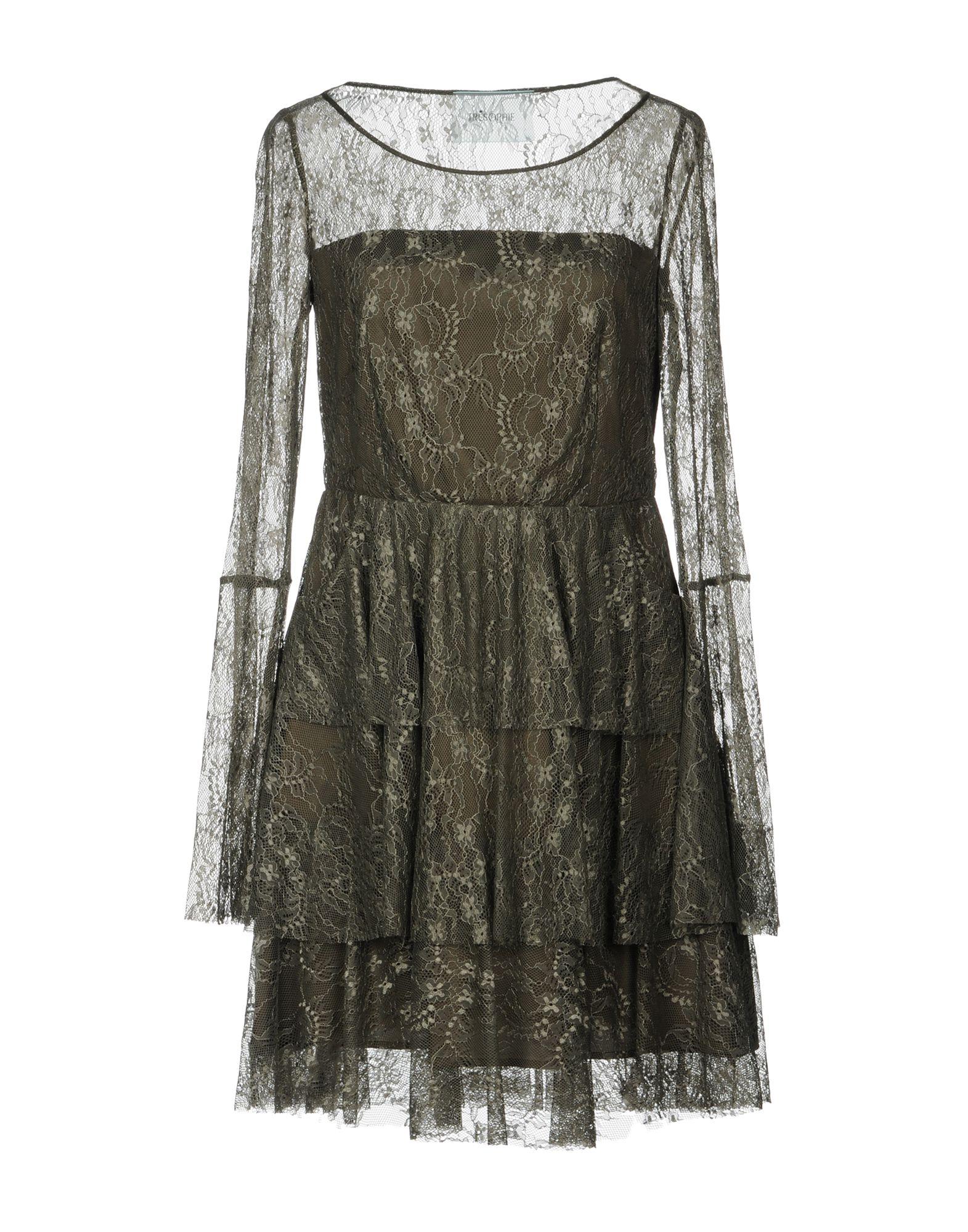 TRESOPHIE Damen Kurzes Kleid Farbe Militärgrün Größe 4