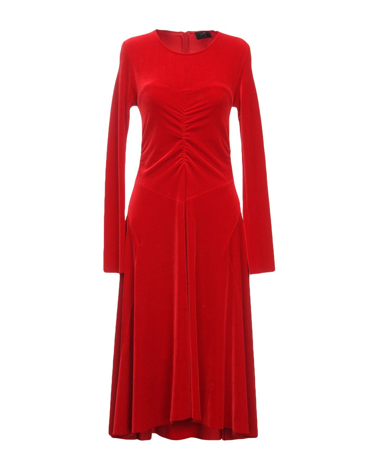 LE COL Midi Dress in Red