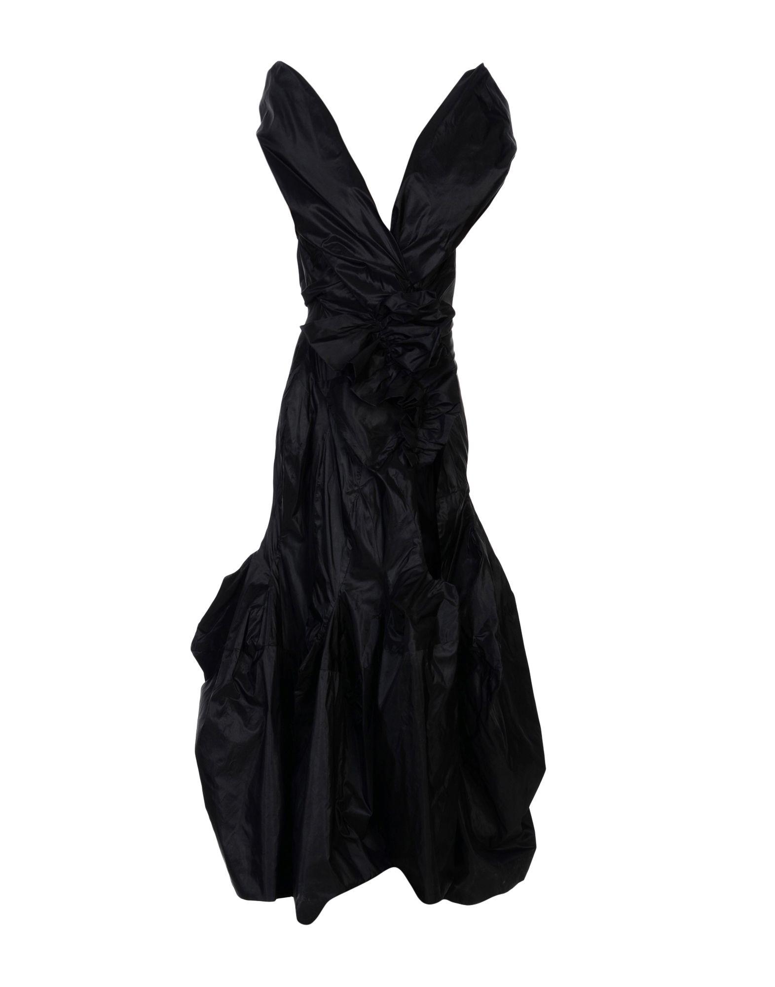 《送料無料》ANDREAS KRONTHALER for VIVIENNE WESTWOOD レディース ロングワンピース&ドレス ブラック 8 シルク 100%